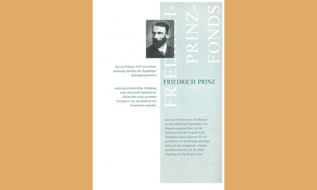 Prinz-Fonds Augsburg Fassadenpreis